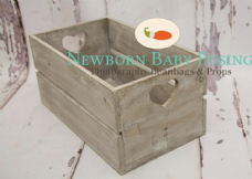 Grey Washed Heart Crates